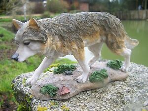 Mo0248 Figurine Statuette Loup Marchant Gm Louve Animal Sauvage 9hrkemht-08002932-938222341