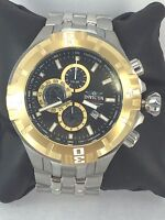 Men's Invicta 12358 Pro Diver Stainless Steel Black Chronograph Dial Watch