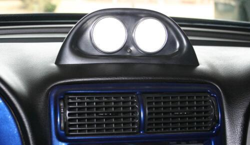 "Auto Meter Clock Dash Pods 94-04 Ford Mustang Dual 52mm Gauge 2-1//16/"" Black"