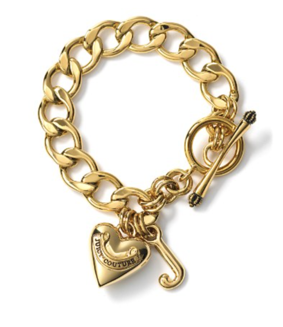 Juicy Couture Black Label Starter Gold Charm Bracelet 0651