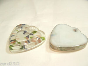 1-x-Foil-Lined-LARGE-Glass-Pendant-BNFP30-Heart