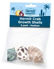 FLUKER'S HERMIT CRAB MEDIUM SHELLS STYLES VARY 3PK FREE SHIPPING IN THE USA ONLY