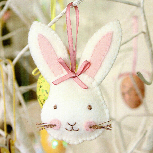 Sewing Craft A5 Creative Card PATTERN Easter ROSIE RABBIT
