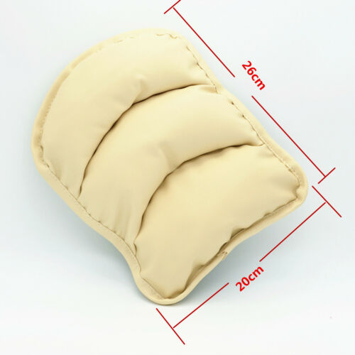 Car Center Armrest Console Soft Pad Cover Support Box Cushion Beige PU Mat Liner