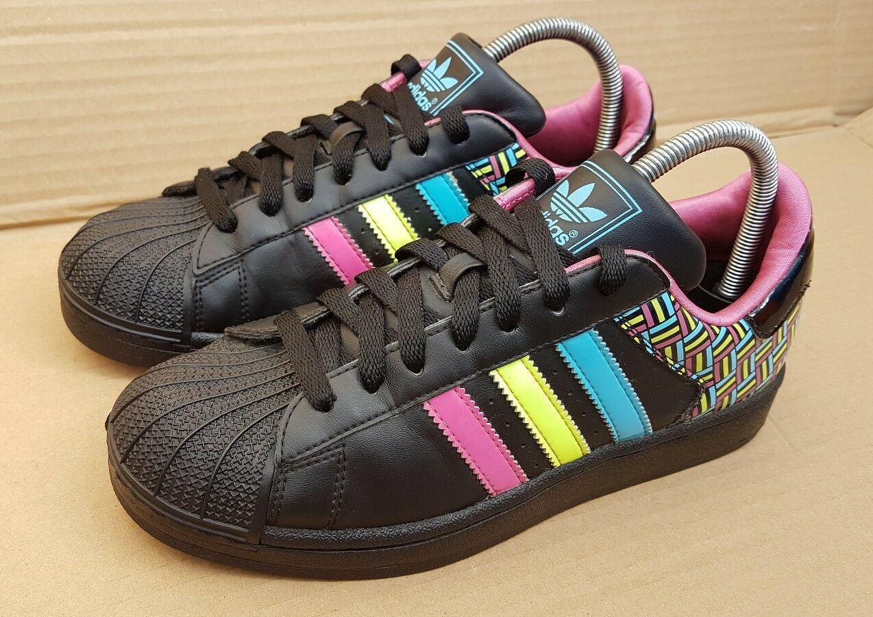 ADIDAS ADIDAS ADIDAS SUPERSTAR TRAINERS SIZE 6Noir S STAR EXCELLENT RARE SOLD OUT 7cf8e2