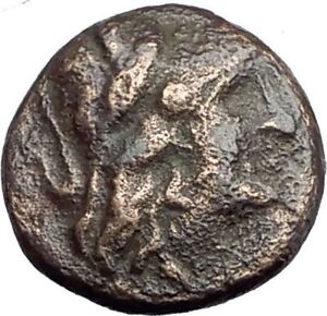 KALLATIS-in-MOESIA-3-2ndCenBC-Authentic-Ancient-Greek-Coin-ATHENA-amp-CLUB-i63859