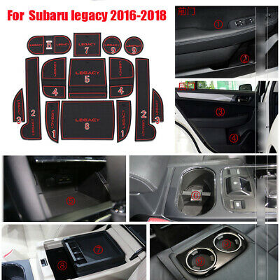 For ford ecosport accessories Non-slip Interior Door Slot Rubber Cup Holder Mat