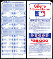 1982 MLB ALL-STAR BASEBALL GAME UNUSED FAN BALLOT@MONTREAL EXPOS OLYMPIC STADIUM