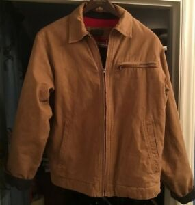 3cb9a14da2 Image is loading Vintage-Abercrombie-amp-Fitch-Adirondack-Tan-Lined-Jacket-