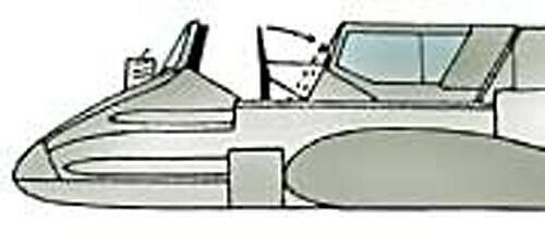 x2 1//72 Squadron 9179 Henschel Hs 129 Vacuform Canopy for Italeri