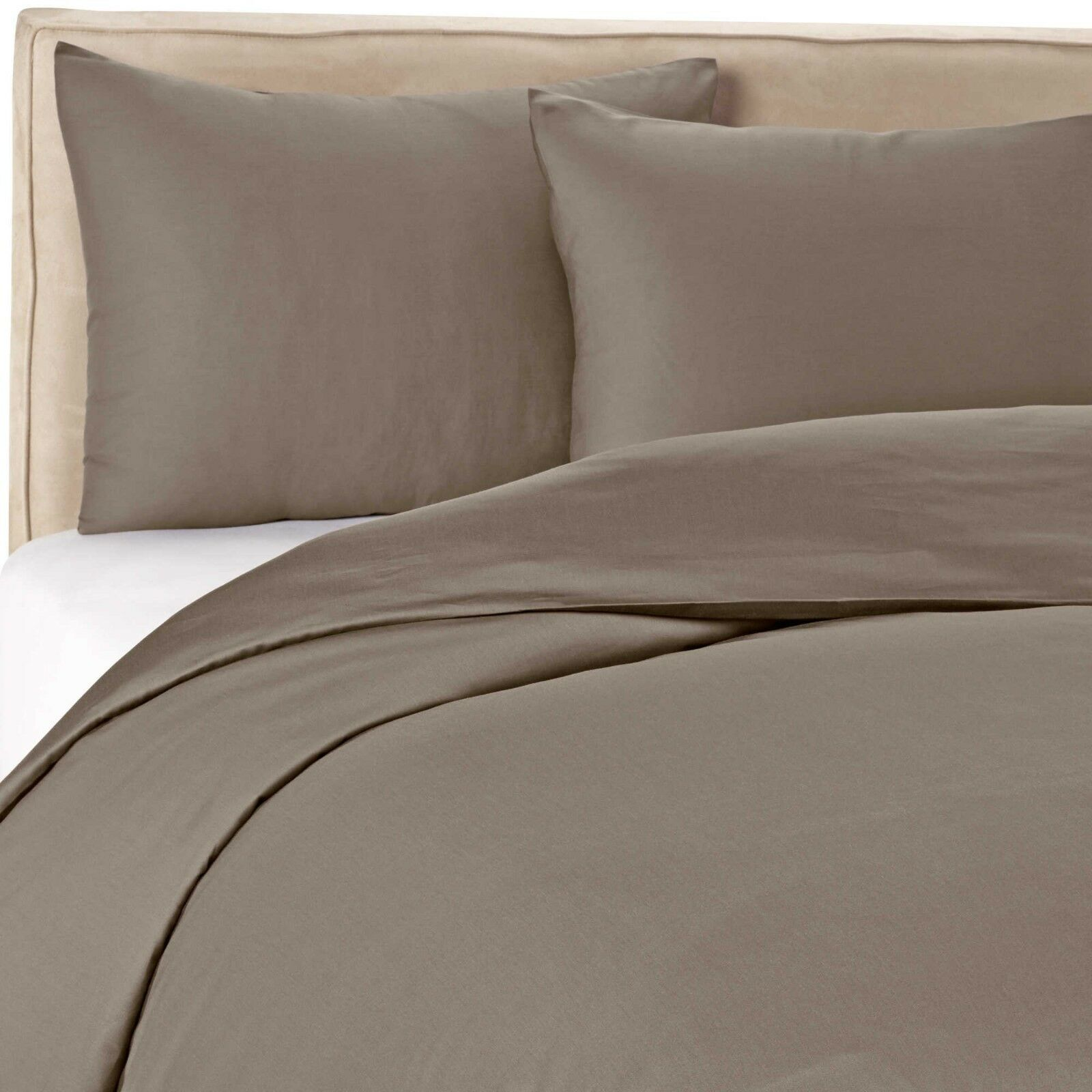 Wamsutta 400-Thread-Count Solid Duvet Cover Set in Grey