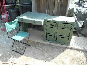 ... MILITARY-SURPLUS-HARDIGG-TENT-FIELD-DESK-PLUS-CHAIR- & MILITARY SURPLUS HARDIGG TENT FIELD DESK PLUS CHAIR TABLE CASE ...