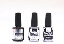 EzFlow Nail Soak Off Gel Polish LED/UV TruGel Bond it + Base Coat + Top Coat 3ct