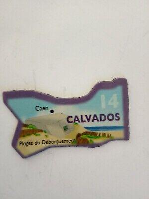 MAGNET LE GAULOIS CARTE DE FRANCE DEPARTEMENT 14 CALVADOS