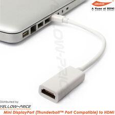 Premium White Mini DisplayPort to HDMI Female Adapter Cable - mini display port