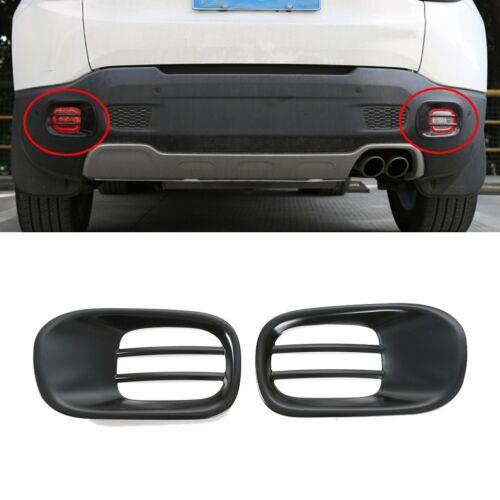 Black Rear Bumper Fog light Lamp Cover Trim Frame For Jeep Renegade 2015-2017