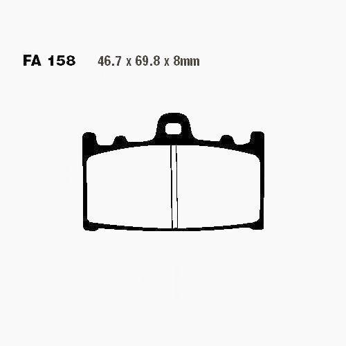 EBC Bremsbeläge Bremsklötze FA158HH VORN Kawasaki ZX-6R 95-97 ZX 600 F1-F3