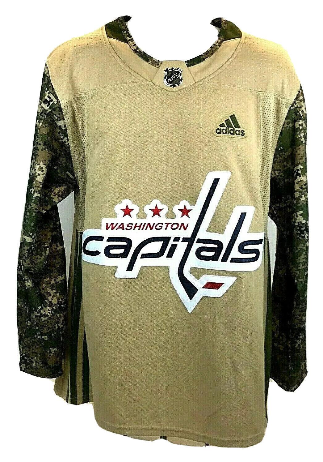 adidas Washington Capitals Camo Veterans Day Practice Jersey Sz 60 ...