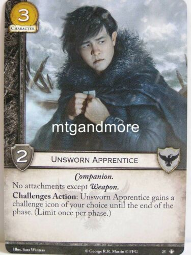 taking the Black-sec A Game of thrones 2.0 lunaires 1x unsworn Apprentice #025