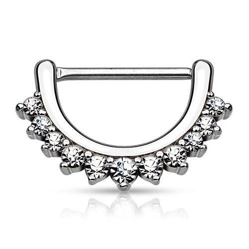 Pezones piercing nippelpiercing pecho piercing nipple circonita cristales