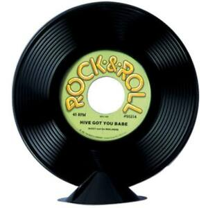 Plastic-Rock-N-Roll-Record-Centerpiece