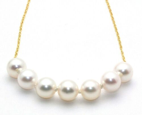 ADD ON PEARL NECKLACE 8MM 14K GOLD PENDANT 7 PEARLS A FAMILY TRADITION