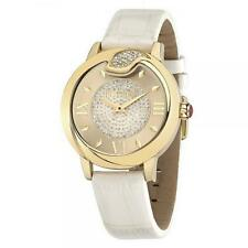 Orologio Donna JUST CAVALLI SPIRE R7251598502 Pelle Bianco Gold Swarovski JC
