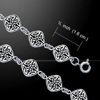 Celtic Four Point Quaternary Knot .925 Sterling Silver Bracelet By Peter Stone