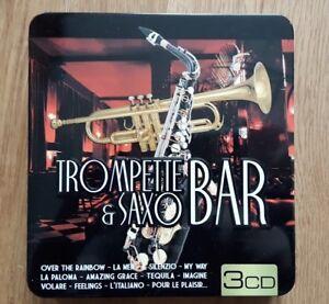 TROMPETTE-amp-SAXO-BAR-Compilation-3-CD-Dans-1-coffret-en-metal