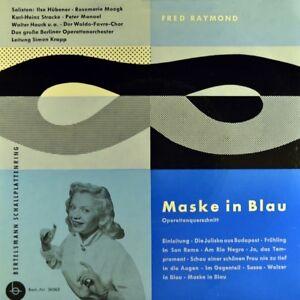7-034-FRED-RAYMOND-Maske-in-Blau-ILSE-HUBNER-ROSEMARIE-MOOGK-WALTER-HAUCK-EP-1959