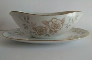 Noritake Gravy Bowl & Oval Serving Bowl Vegetable Dish Set Rose Pattern Vintage