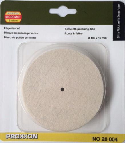 Direct from RDGTools Proxxon felt cloth polishing wheel disc 100mm 28004