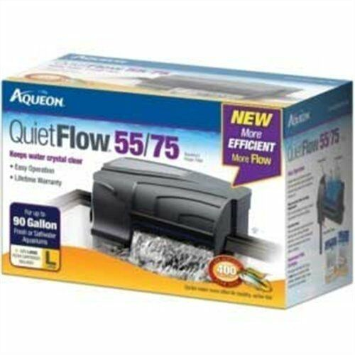 Aqueon 06079 QuietFlow 5575 Power Filter, 400GPH