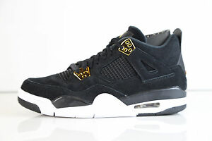 Nike Air Jordan Retro 4 Royalty Black Metallic Gold GS 408452-032 4 ... a48ef60bb