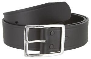 "Black Tennessee Men/'s Leather Work Uniform Belt 1 3//4/"" Wide"