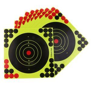 50Pcs-Set-Hunting-Targets-8x8-Inch-Self-Adhesive-Paper-Reactive-Splatter-Ta-L3T6