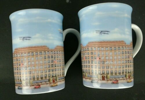 2 Saks Fifth Avenue Limited Edition Porcelain 10 Oz Tea Cups Made In Germany S5A