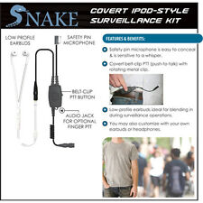 Tactical Ear Gadgets Covert SNAKE Ipod-Style Headset Replacement for QR Adapters