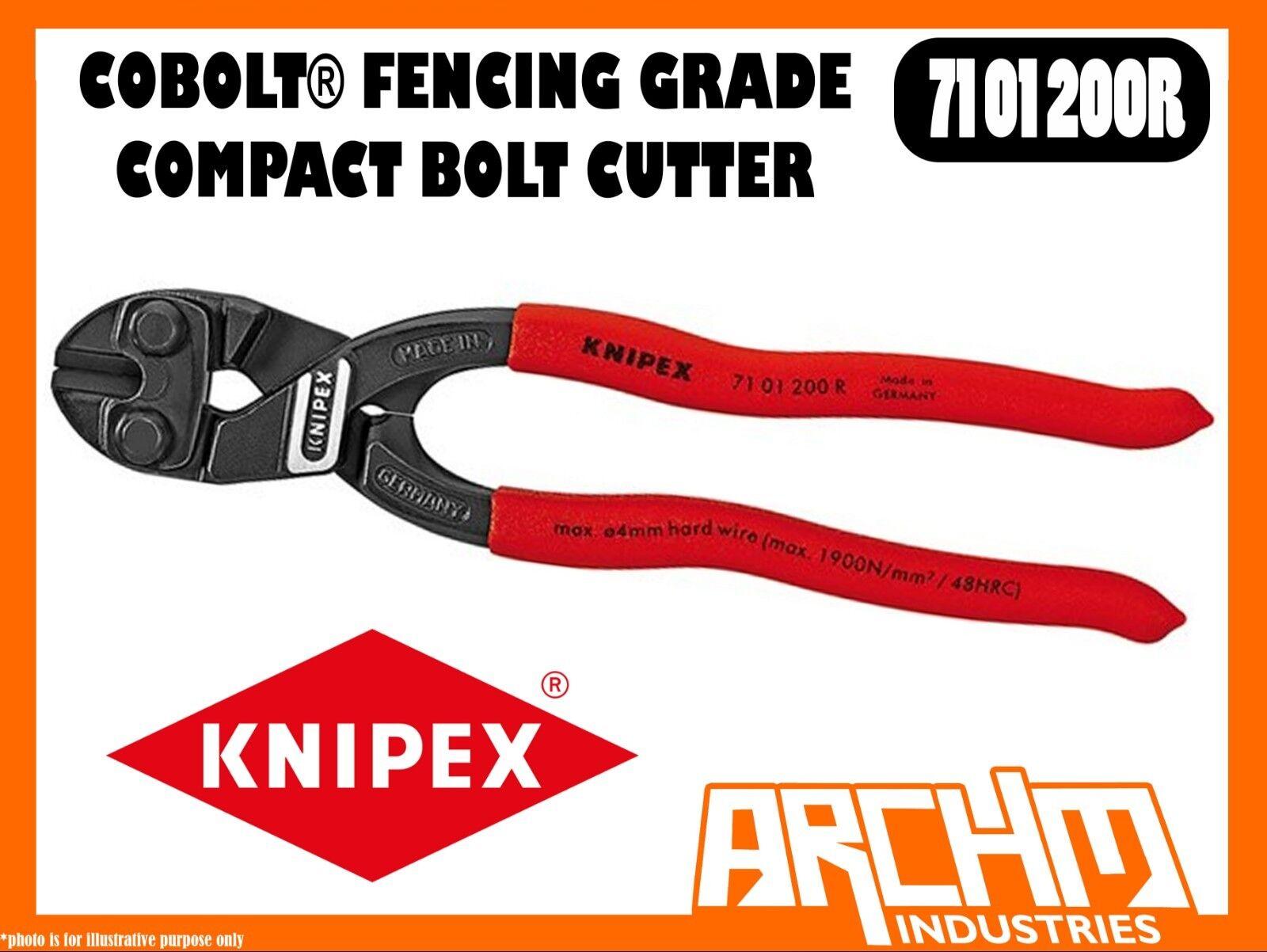 KNIPEX 7101200R - COBOLT® - COMPACT BOLT CUTTER FENCING GRADE - 200MM CUTTING