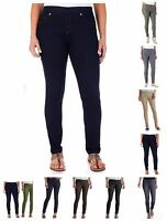 Faded Glory Women's Pull On Denim Jeggings Skinny Jeans Pants Reg & Petite