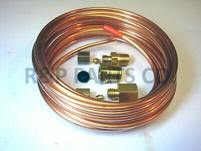 MECHANICAL BOOST//VACUUM GAUGE INSTALL KIT with FITTINGS /& 12 FT COPPER LINE NEW