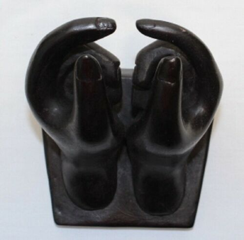 Hands of Buddha Resin Business Card Holder made in Thailand