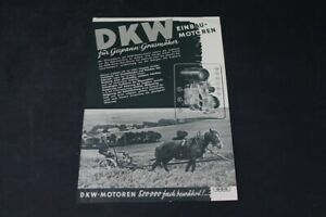 Age Print DKW Motor Sidecar Mower Advertising Collector