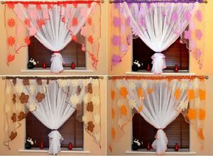 Amazing Voile Curtains 6 Colours Organza White Red Orange Brown