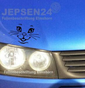 Katzen-Aufkleber-S123-in-10cm-schwarz-matt-fuer-Auto-Wand-Spiegel-Schrank-usw