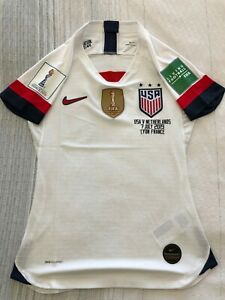 USA-USWNT-Home-Soccer-Player-version-Jersey-for-FIFA-Women-039-s-World-Cup-final