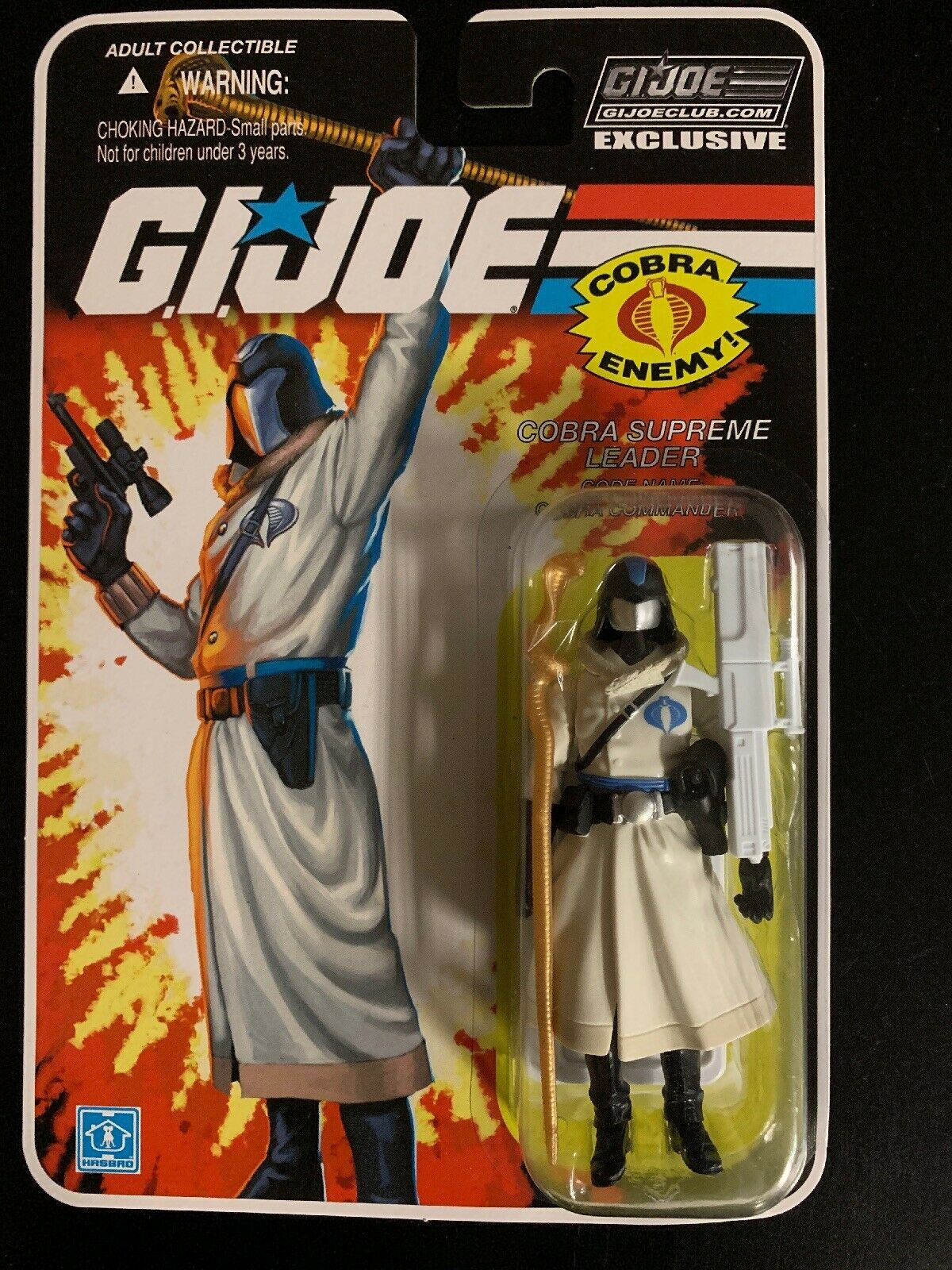 GI JOE FSS 7.0 06 Cobra Commander arctic attire MISP