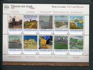 Netherlands-VINCENT-VAN-GOGH-1853-1890-sheet-CITY-AND-VILLAGE-STAD-DORP-MNH