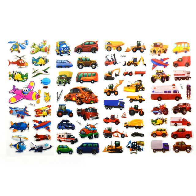 5pcs Bubble Stickers 3D Cartoon KIds ClassicToys Sticker School Reward gift