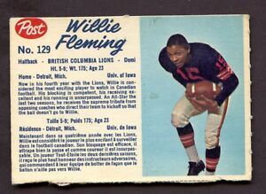 1962-Post-Cereal-129-Willie-Fleming-British-Columbia-Lions